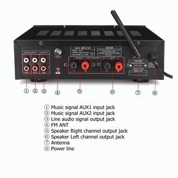 Усилитель мощности SUNBUCK AV-80, 2*200 Вт, Bluetooth 3