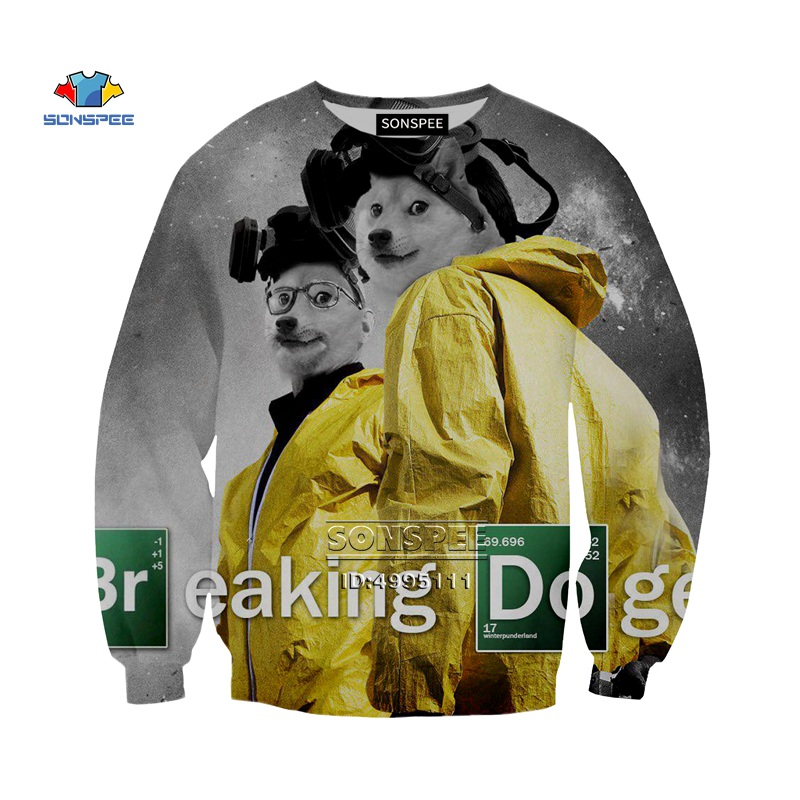 Crewneck Sweatshirt What If Doge was One of Us Cool Unisex Shirt Shiba Inu