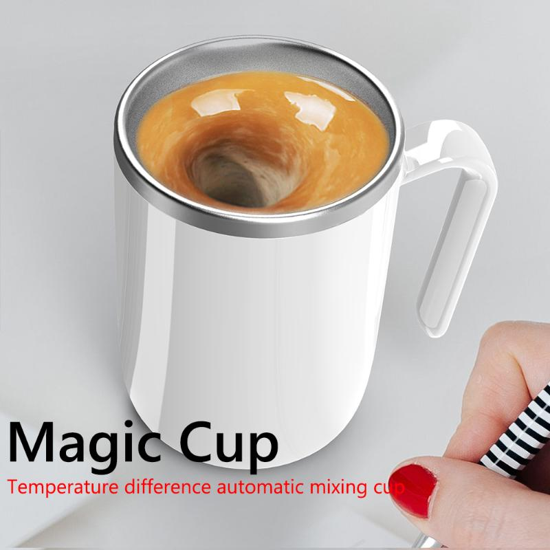 360mL No Power Needed Auto Self Stirring Mug Coffee Milk Mixing Cup For Car Home Office IPX6 Waterproof