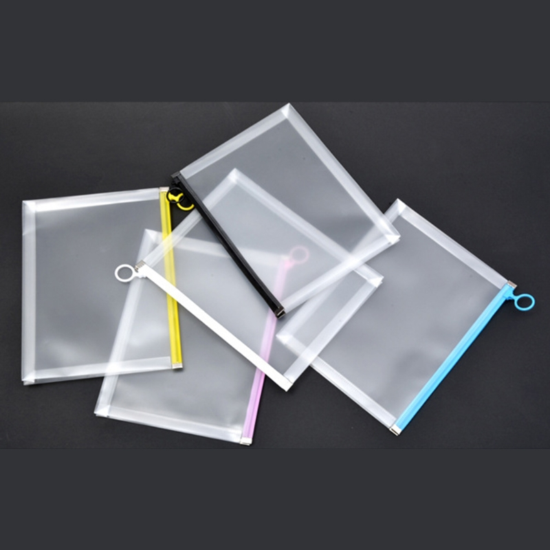 Multifunctional Transparent A4 A5 File Folder Document Bag Organizer Filing Products Waterproof School Office Supply Stationery
