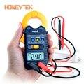 HONEYTEK Мини цифровой клещи токовый Клещи для хранения данных мультиметр клещи Тестер Авто Диапазон мультиметр AC/DC напряжение
