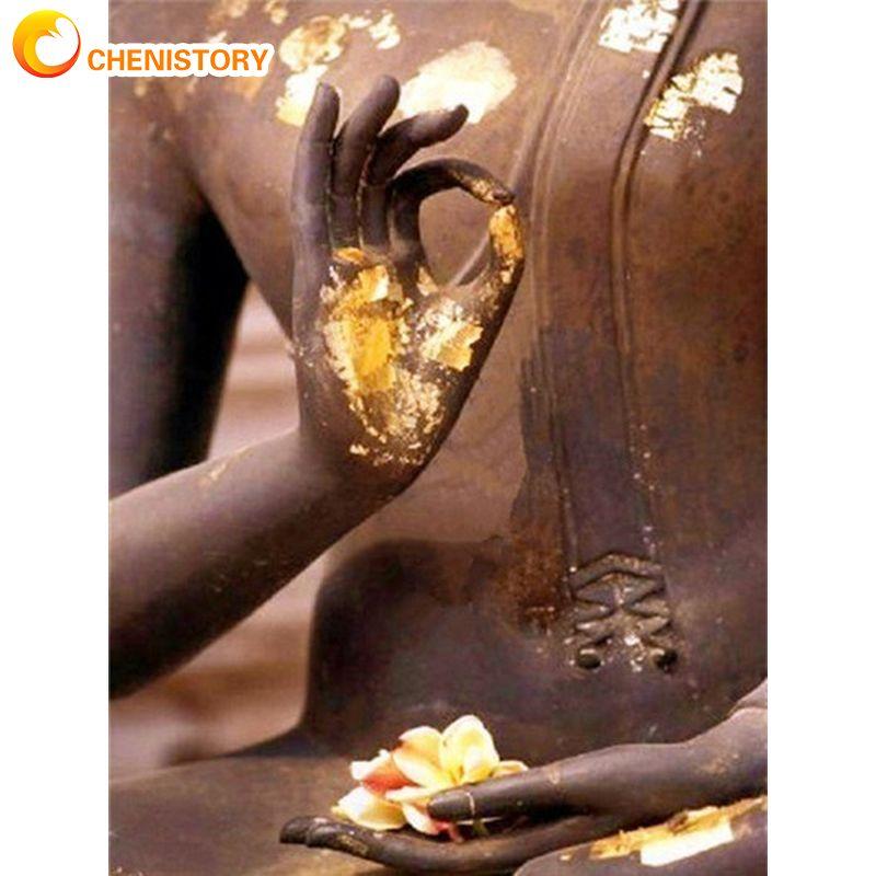 Купить статуя будды chenistory картина по номерам для взрослых наборы