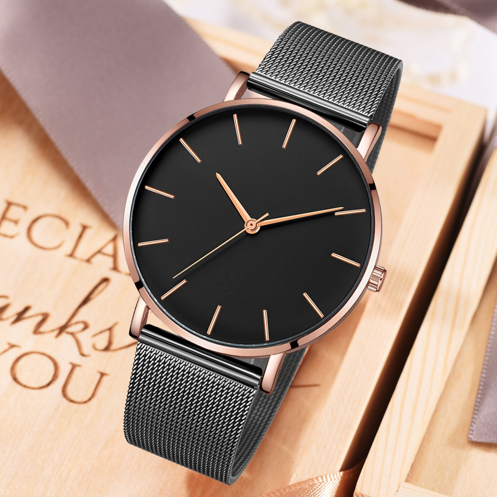 Casual Men Business Watches Luxury Male Quartz Wristwatches Fashionable Men Stainless Steel Mesh Watches Relogio Masculino