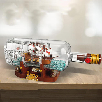 1080Pcs Sy1036 Pirates Of The Caribbean Series Ships in Bottles Creative 21313 Assembled Building Block brickss Toy Model 16051 2