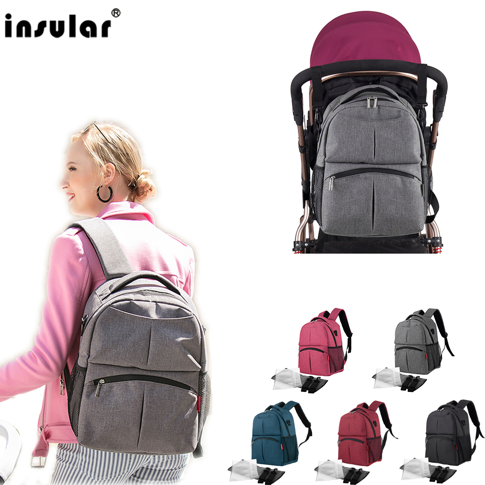 Fashion Mummy Maternity Diaper Bag Nursing Bags Travel Backpack Designer Stroller Baby Bag Baby Care Nappy Baby Stroller Bag