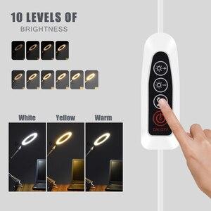 Image 3 - Toolour 5X 용접 돋보기 USB 3 색 LED 조명 램프 루페 읽기 재 작업 납땜 돋보기 유연한 데스크