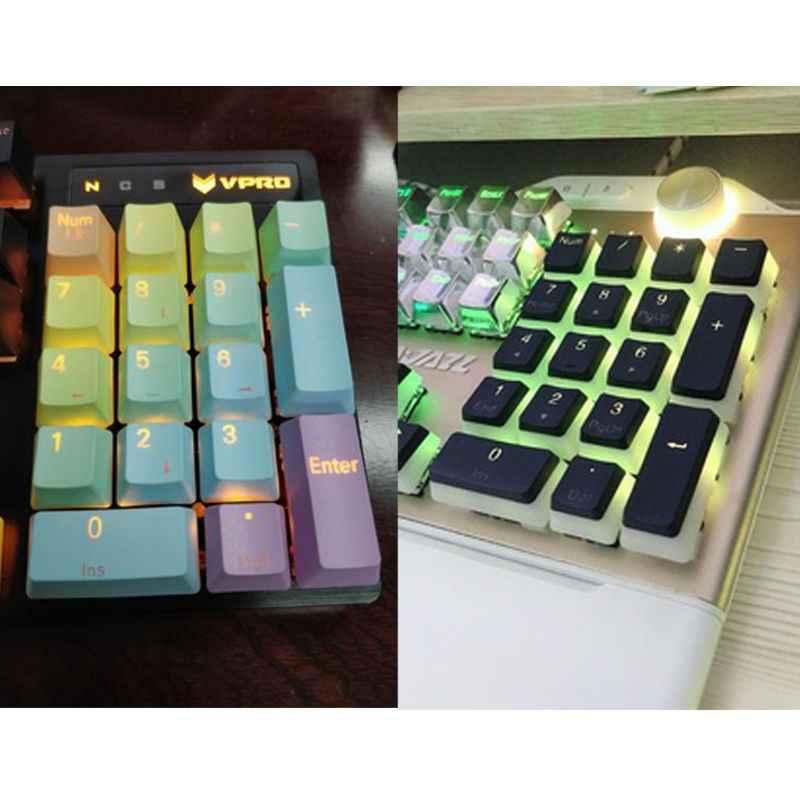 17 مفتاح RGB أعلى المطبوعة PBT النار الخلفية غرار Keycap ل الكرز MX مفاتيح الميكانيكية لوحة المفاتيح اللوحة الرقمية لوحة المفاتيح غرار Keycap