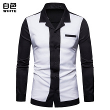 Europe, Europe and America,style Mens Color-matching Shirts, Long-sleeved Shirts Men Shirt