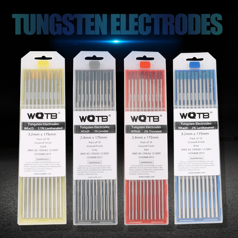 WQTB Tungsten Electrodes Tig Tungsten Rods WT20 Wl15 WL20 WC20 WZR8 WP WS20 WE3 Tig Tungsten Electrodes For Welding Aluminum