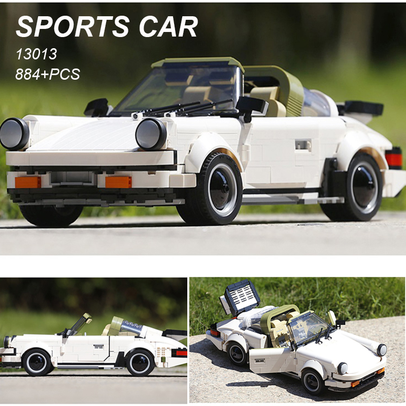 13103 Moc Technic voitures jouets le blanc classique Sport vitesse voiture blocs de construction briques Kits modèle jouets enfants cadeau de noël