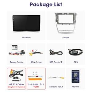 """Image 5 - JMCQ 10 """"4G + WiFi 안드로이드 10.0 자동차 라디오 멀티미디어 비디오 플레이어 GPS 네비게이션, 스코다 옥타비아 2 A5 2008 2013 헤드 유닛 2din"""