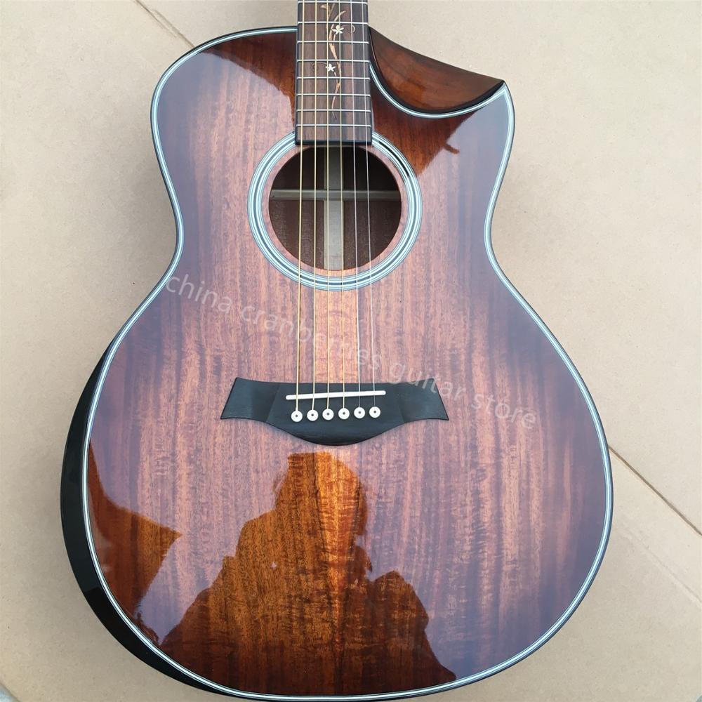 KOA wood Cutaway K24ce acoustic guitar,Factory Custom Chaylor 41 inches B Band A11 pickup K24 electric Guitar,Free shipping