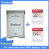 Samsung Pro 32GB 64GB SD SDHC Karte UHS-I C10 Mit Onefavor sd-karte adapter PCMCIA kartenleser Für mercedes Benz MP3 Speicher Karte