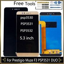 "5.3 ""LCD ekran Prestigio Muze F3 PSP3531 DUO PSP 3531 Muze D3 PSP3530 PSP3532 Duo LCD ekran dokunmatik ekran ile montaj"