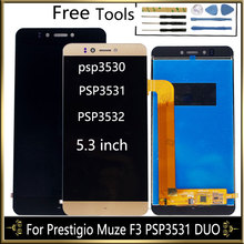 """5.3 """"wyświetlacz LCD dla Prestigio Muze F3 PSP3531 DUO PSP 3531 Muze D3 PSP3530 PSP3532 Duo wyświetlacz LCD z zespół ekranu dotykowego"""