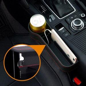 Image 2 - 革車のシートオーガナイザオーガナイザー多機能オートシートギャップフィラー収納ボックスabsシートシームポケットトランクオーガナイザー