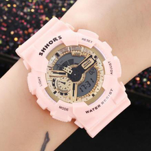 Shhors Fashion Pink Women Watches Multifunctional Sport