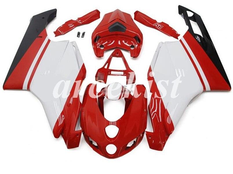 חדש ABS אופנוע מלא ערכת מעטפת fit לדוקאטי 749 999 2005 2006 05 06 749R 999R גוף סט אדום לבן