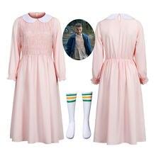 Женское платье с длинным рукавом eleven's розовое вечернее