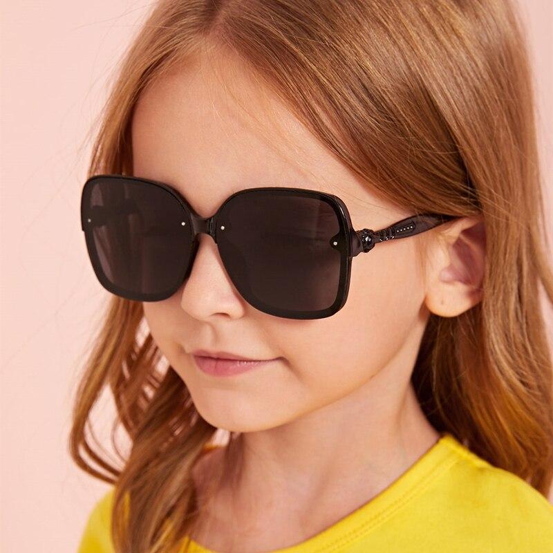 2020 большие квадратные Детские Солнцезащитные очки Модные Цветные градиентные детские солнцезащитные очки унисекс для мальчиков и девочек ...