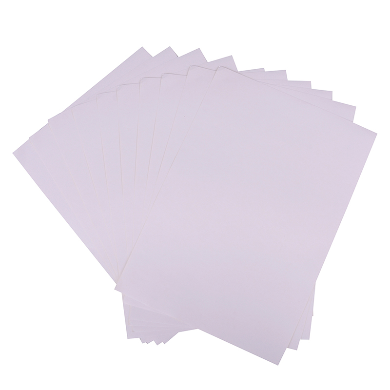 10 Pcs/Set Self Adhesive Sticker Label 210mmx297mm A4 Glossy & Matt Kraft Adhesive Sticker for Printer Copier Craft Paper
