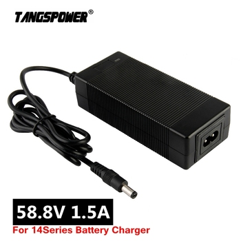 цена на 58.8V 1.5A lithium battery charger for 14Series 48V Li-ion battery pack electric bike Charger