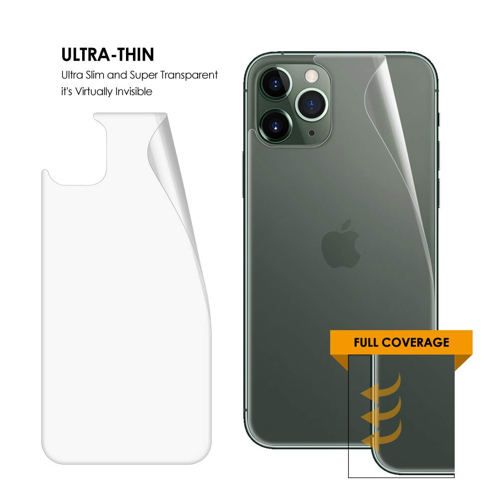 Apple iPhone 11 Pro Protector Pantalla Película Vidrio Claro Trasero