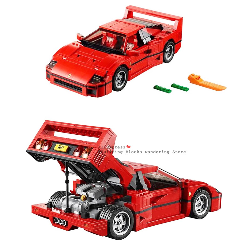 1157pcs lepining Technic Series F40 Sports Car Building Blocks Set Bricks Compatible 21004 10248 Educational Toys For Kids image