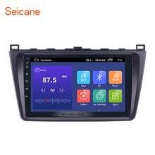 Seicane 9 인치 2DIN 와이파이 블루투스 와이파이 GPS 네비게이션 카 라디오 안드로이드 9.0 멀티미디어 플레이어 2008 2015 마즈다 6 루이 윙