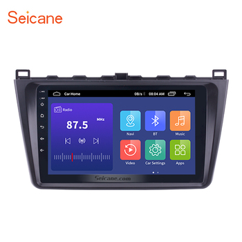 Seicane 9 Inch 2DIN WIFI Bluetooth WIFI GPS Navigation Car Radio Android 10.0 Multimedia Player For 2008-2015 Mazda 6 Rui wing image