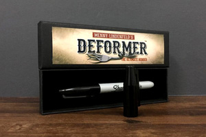 Deformer by Menny Lindenfeld (Gimmick pen and Online Instruct) Mentalism Magic Tricks Comedy Coin Bending Illusions Magic Props(China)