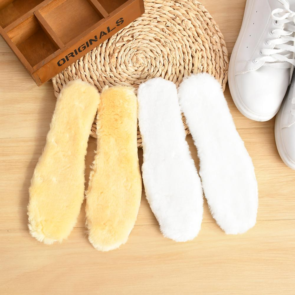 Hot!High Quality Thickened Anti-cold Winter Wool Blend Insoles Unisex Breathable Plush Shoe Pad Warm Insoles For Snow Boot