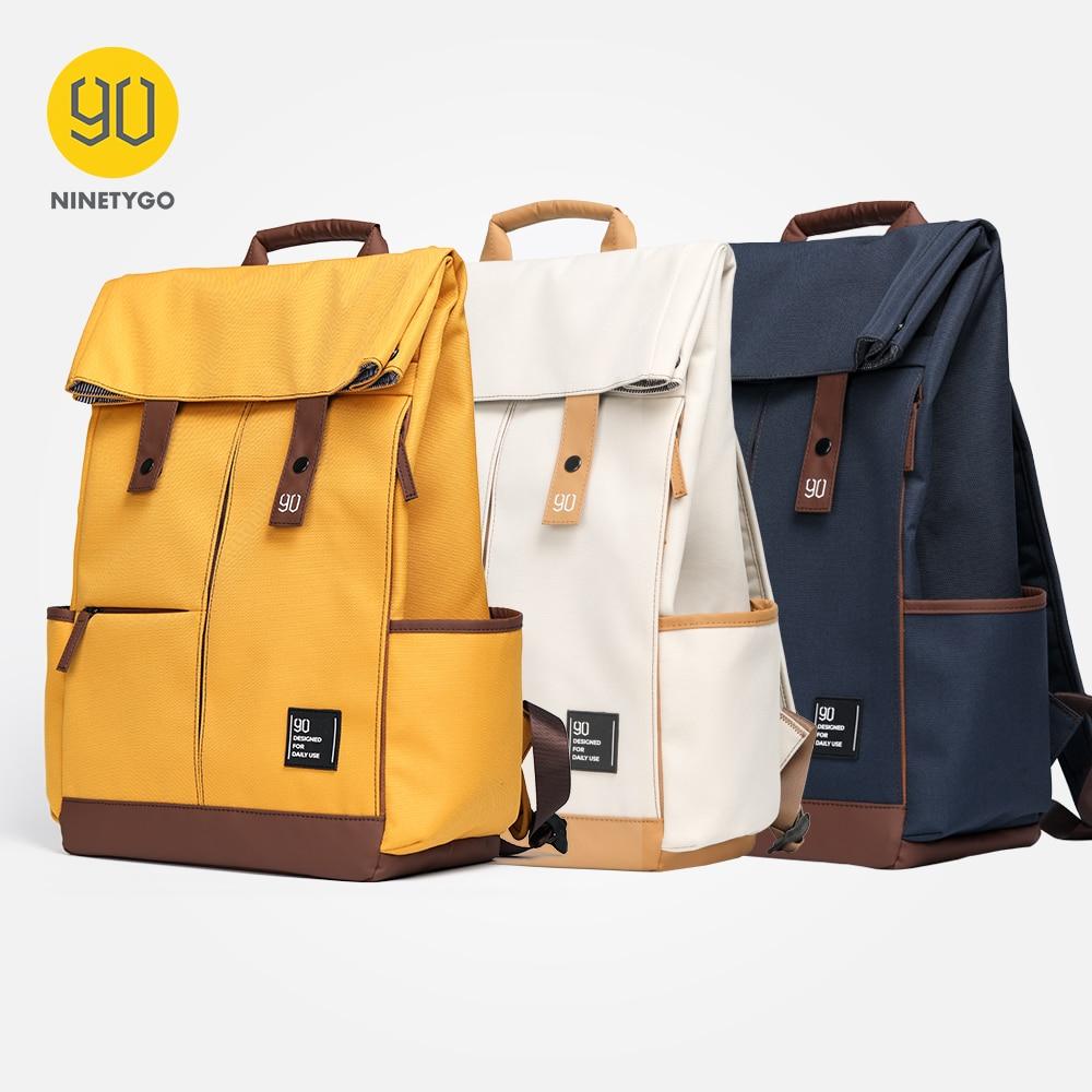 90 NINETYGO Young College Backpack Teenager Laptop 15.6 inch Waterproof Bag Fashion Leisure Unisex Casual Computer School Bag|Backpacks| - AliExpress