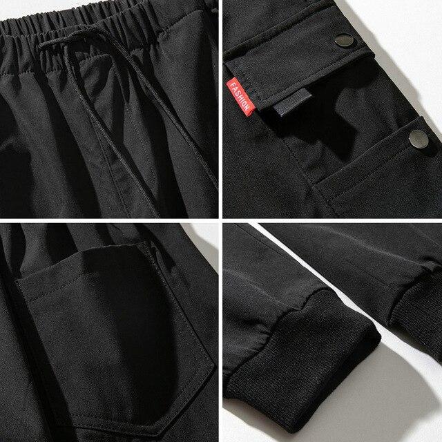 Autumn Black Jogger Men Cargo Pants Outdoor Tactical Military Pants Casual Loose Sweat Pants Men Cotton Trousers Big Size 8XL 6