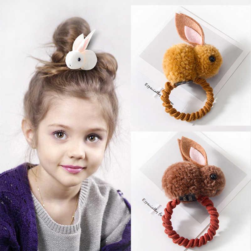 M MISM, новинка, 3D, плюшевая собака, заячьи кроличьи уши, милые Мультяшные животные, резинки для волос, повязка на голову для детей, девочек, заколка для волос, аксессуары для волос
