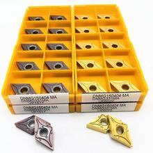 10PCS inserto in metallo duro DNMG150404 MA VP15TF UE6020 US735 utensile da taglio di alta qualità strumento tornio CNC DNMG 150404 fresatura tornio strumento
