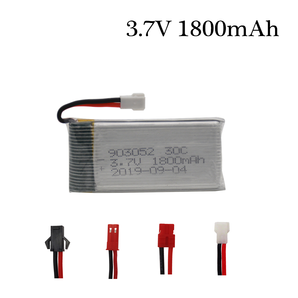 3.7v 1800mAh Rechargeable Battery For KY601S SYMA X5 X5S X5C X5SC X5SH X5SW X5HW X5UW M18 H5P HQ898 H11D H11C Lipo Battery 1pcs
