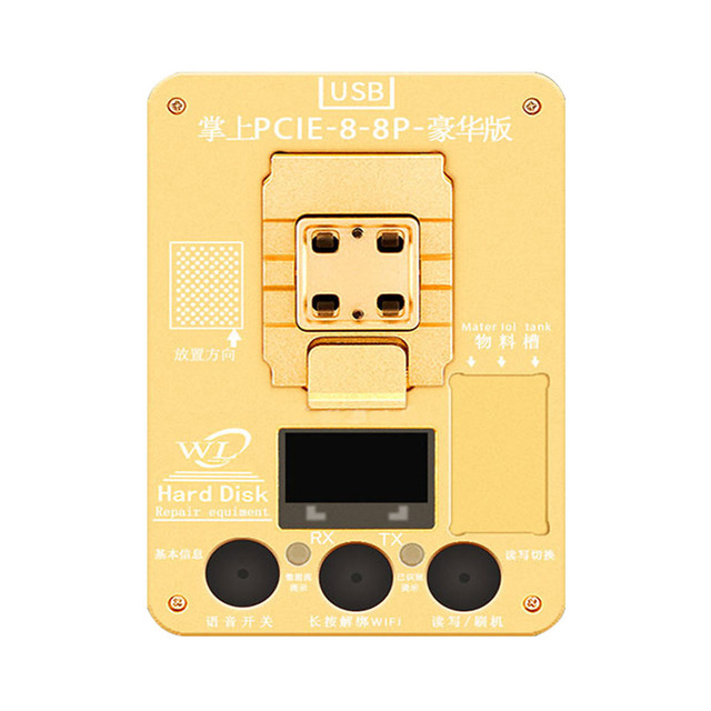 Wl PCIE 8 Nand Flash Programmeur Sn Tool Voor Iphone 8 8P X Nand Fout Reparatie Hdd Upgrade