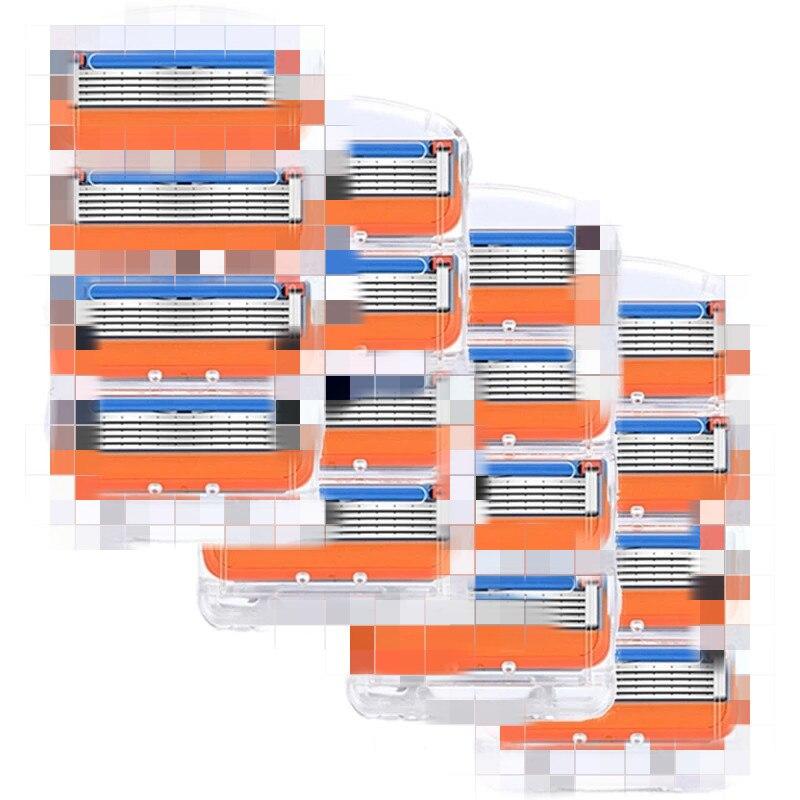 16 шт./кор. бритвенное лезвие для Для мужчин Уход за лицом 5 слоев кассета для бритвы Нержавеющаясталь Безопасные лезвия