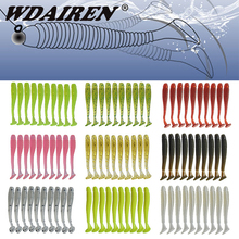 цена 10Pcs/lot Worm rubber Jigging Soft Bait 48mm 0.8g Wobbler Spiral Fishing Lure Bass Smell soft Bait Jerkbait Fishing Tackle Pesca онлайн в 2017 году