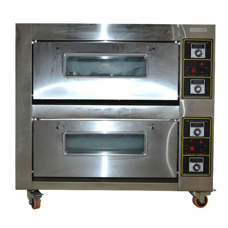 220v four électrique Commercial four de cuisson four double couches double plaques cuisson pain gâteau pain Pizza machine 6800w