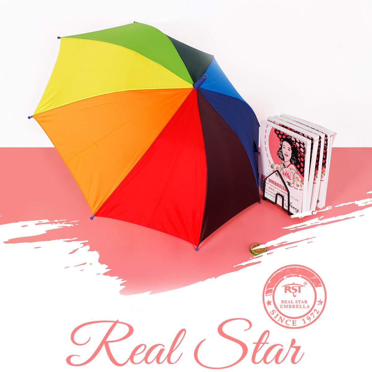 RST Umbrella Foreign Trade Export Europe Rainbow Color Children All-Weather Umbrella Advertising Umbrella Customizable Logo