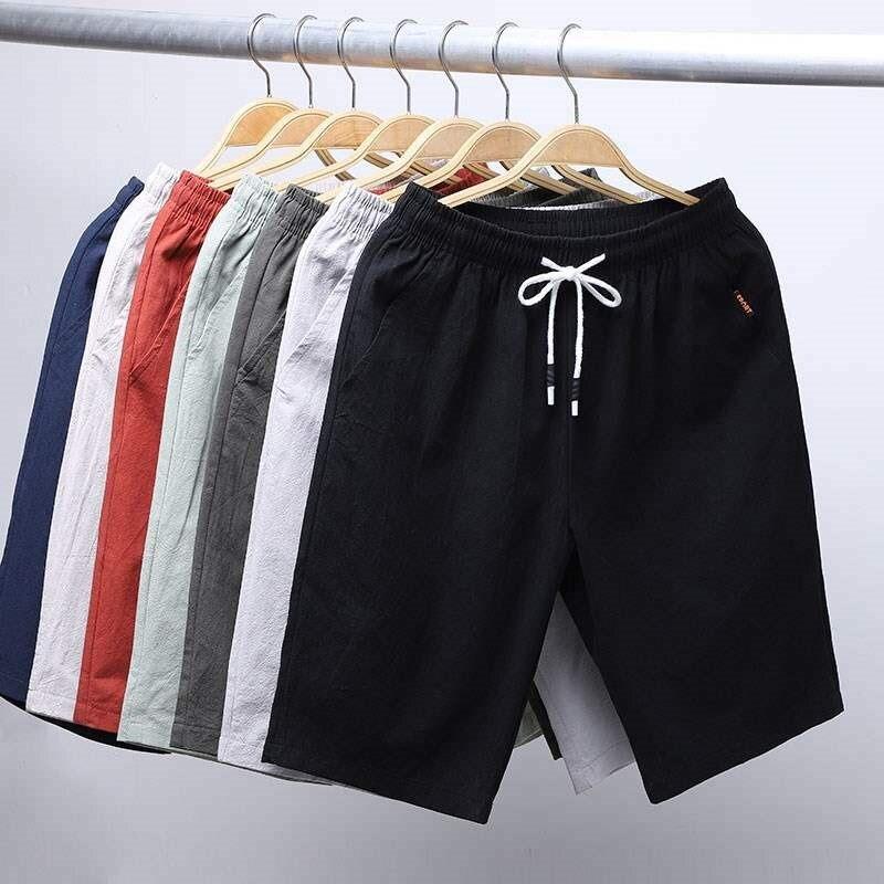 OLOME Popular 2020 Newest Summer Beach Shorts Men Cotton 7 Solid Colors  Casual Shorts Bermuda Masculina Shorts Ropa De Hombre