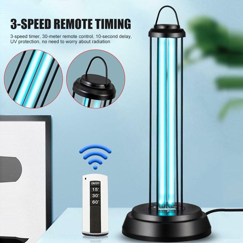 New Mobile UV Lamp Light 220V 38W Remote Household Portable For Bedroom Kitchen Office FKU66