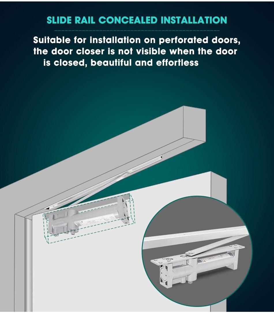 Color : Not Positioning, Size : Small MUMA Door Closer Black Hydraulic Buffer 90 Degree Positioning Door Closer Fire Door Automatic Adjustable Door Closer