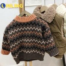 LINLING Children Plus Velvet Sweater Winter Sweater College Sweater Sweater Coat P718