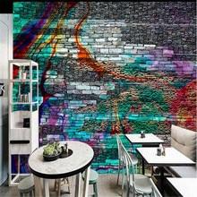 Milofi custom high-end 3d three-dimensional mural personality art abstract texture tile wall brick wall large background wall pa