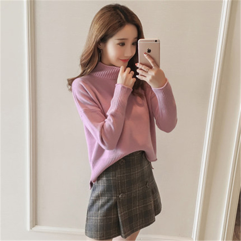 Women's Early Spring Turtleneck Sweaters Fashion Female Autumn Warm Pullovers Office Ladies Sweater Clothes LWL203