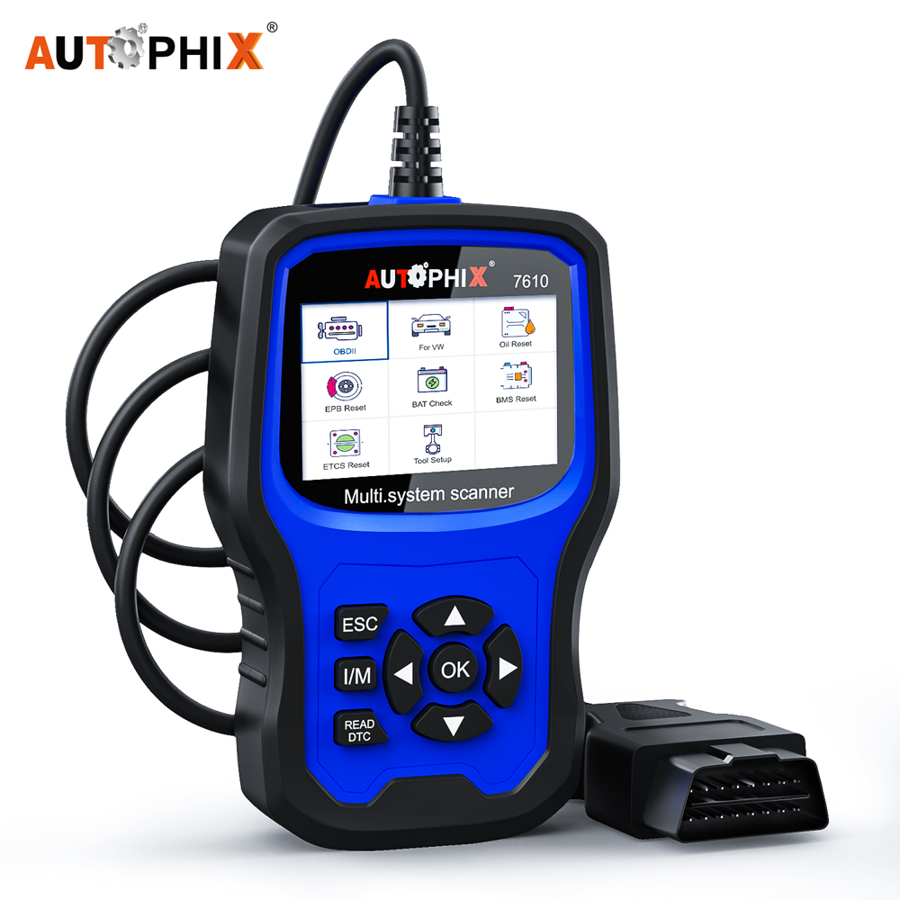 Image 1 - Autophix 7610 OBD2 Auto Scanner for Audi Skoda Seat ABS SRS Airbag Oil EPB DPF TPMS Reset Car Diagnostic Tool OBD2 Scanner ODB on