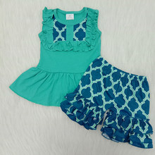 Bebê recém-nascido da criança da menina outfit verão sem mangas t camisa e shorts bebê menina verão outfit boutique verão remake roupas conjunto